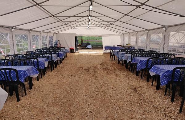 אוהל ענק לאירועים למכירה